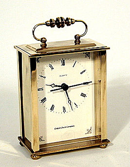 oxford carriage clock  i messing F5098
