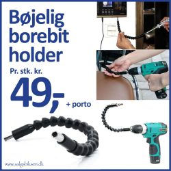 Bøjelig borebit holder